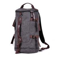 Wholesale Fashion Grey Canvas Backpack, shoulder bag,Sports Travel bag (MH-2112) from china suppliers