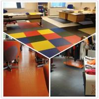 Wholesale 3W Anti Slip Indoor Office Interlocking Removable Plastic PVC Floorommg Tiles from china suppliers