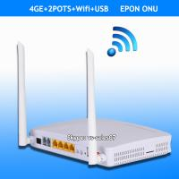 Buy cheap FTTH 4FE, 4GE 2POTS wifi EPON ONU HGU by optic network original manufacturer from wholesalers