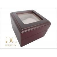 Wholesale Engraved Wooden Watch Box / Wooden Watch Box With Glass Top from china suppliers
