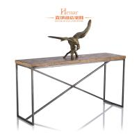 Wholesale Unique Wooden Top Metal Base Hallway Console Table for Hotel Furniture from china suppliers