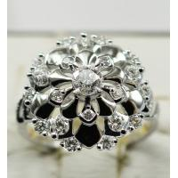 Quality Jsely 18K white gold with natural diamonds White Snake series Ring KGR009950 for sale