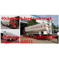 Wholesale dongfeng tianlong 8*4 LHD 40cbm animal feed delivery truck for sale, 25tons farm-oriented bulk feed tank truck for sale from china suppliers