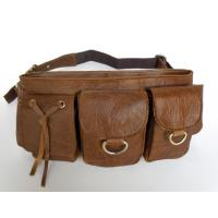 Wholesale Wholesale Price Vintage Tan Leather Style Unisex Fanny Purse Waist Pack #6104 from china suppliers