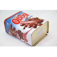 Wholesale Customize Big Chocolate Tin Box Printing , Rectangular Metal Tins from china suppliers