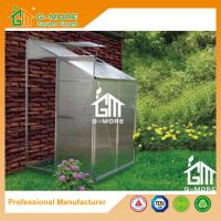 Wholesale 4'x4'x6.7'FT Silver Color Single Door Wall Lean-To Series Garden Greenhouse from china suppliers