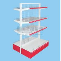 Wholesale Professional Light Wire Metal 4 Tier Double - Side Ladder Supermaket Shelf from china suppliers