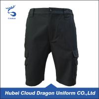 Wholesale Pure Cotton Black Mens Canvas Shorts , Tactical Training Shorts For Summer from china suppliers