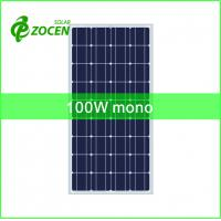 Wholesale Monocrystalline 100W Solar Panels for LED Solar Street Light, Off-Grid Solar System from china suppliers