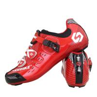 China Adjustable Buckle Road Racing Bicycle Shoes , Mens Road Cycling Shoes Moistureproof on sale