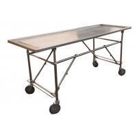 Wholesale Foldable Stainless Steel Embalming  Operating Autopsy Tables Mortuary Products from china suppliers
