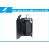 Wholesale High End Black Paper Personalized Wine Box Folding Recyclable With Rope Handle from china suppliers