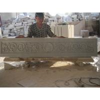 Wholesale white marble carved panel for indoor from china suppliers