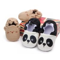 China 2019 fashion Rubber sole Cotton fabric cute panda lovely infant baby toddler shoes on sale