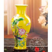 Wholesale Chinese red vase fish shape with lotus from china suppliers