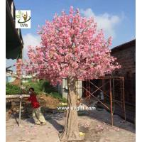 Wholesale UVG CHR138 15ft pink faux cherry blossom tree in fiberglass trunk for party backdrop decoration from china suppliers