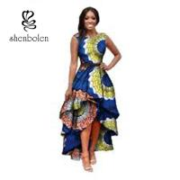 Wholesale Sleeve Less Fashion Female Beautiful African Print Dresses Eco - Friendly All Over The World from china suppliers