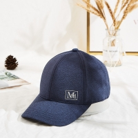 """Wholesale 3 1/8"""" Crown High Knitted Fabric Baseball Cap Custom MM Logo from china suppliers"""