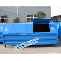 Wholesale Full sealed 7500 liters low price of metal hook lift bins for sale size and color can be customerized from china suppliers