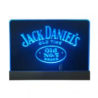 Wholesale 200x300mm desktop blue led edgelit sign with engraved logo from china suppliers