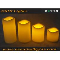 Wholesale Moving Wick Flickering Led Candles , Yellow / White Led Votive Candles from china suppliers