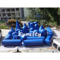 Wholesale Blue Inflatable Sport Games 27PC Paintball Bunker Silk Printing from china suppliers