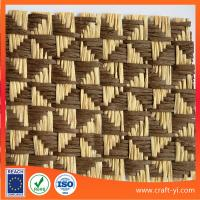 Buy cheap handicrafts  woven straw mats paper wire natural straw fabric textile from wholesalers