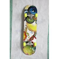 "Quality Single Kick Flat Canadian Maple Skateboard with 3.25"" Aluminum and PU Cushion for sale"