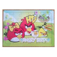 Wholesale Customized Picture Personalised Jigsaw Puzzles Cardboard Angry Bird 4C Printing from china suppliers