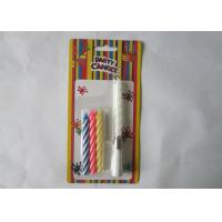 Wholesale Votive Singing Song Swirl Birthday Candles 4 Pcs / 9.3G No Wax Dripping from china suppliers