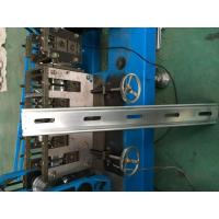 Hydraulic Cutter Perforated Shutter Door Roll Forming Machine With Automatic Punching System