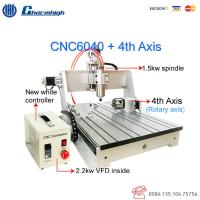 Wholesale Wood Metal Engraving CNC 6040 4 Axis Router Machine / Small CNC 4 Axis Milling Machine from china suppliers