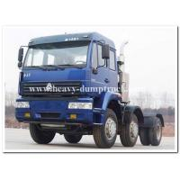 Wholesale Sinotruk 371hp Manual Gearbox Tractor Truck for pulling Goose neck detachable low bed trailer from china suppliers