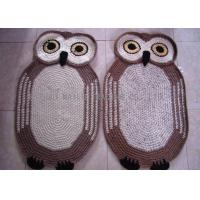 Wholesale Home Decoration Crochet Oval Rag Rug Anti - Slip Crochet Owl Rug 85cm x 55cm from china suppliers