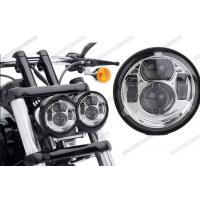 Wholesale Waterproof Motorcycle Driving Lights , 5 Inch Round LED Headlights High Low Beam For Jeep from china suppliers