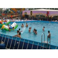 Wholesale Commercial Large Rectangular Metal Frame Pool , Mobile Swimming Pool For Park from china suppliers