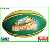 Wholesale Machine Stitched Customized Size 5 Rugby Balls in PVC Synthetic Leather from china suppliers