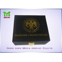 Quality MDF PU Leather covered Caviar Gift Packaging Boxes With Logo Foil Stamping for sale