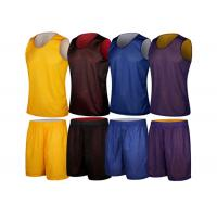 Wholesale Men Reversible Blank Basketball Training Jerseys Yellow Purple Uniform from china suppliers
