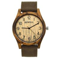 Wholesale Natural Real Zebra Wooden Wrist Watch / Fahion Nylon Strap Watch With Japan Movement from china suppliers