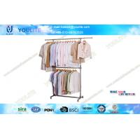 Wholesale Stainless Steel Metal Heavy Duty Clothes Drying Rack , Boutique Clothing Display Racks from china suppliers