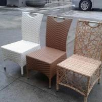 Wholesale Outdoor rattan dining chair with 304 stainless steel handle from china suppliers