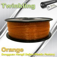 Wholesale MSDS Twinkling Orange 3D Printer Filament 1.75mm Filament For 3d Printer from china suppliers