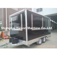 Wholesale Black Food Catering Mobile Restaurant Trailer Large Work Room from china suppliers