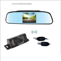 Wholesale Wireless 4.3 Inch LCD Rear View Mirror With Reverse Bakcup Camera Universal Car Monitor Parking assistance from china suppliers