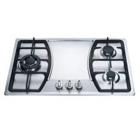 Wholesale Built In 3 Burner Gas Hob Kitchen Equipment Stainless Steel Cooktop from china suppliers