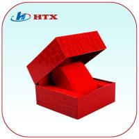 Wholesale Red High Quality Cardboard Paper Box with Velvet for Watch/Jewelry from china suppliers