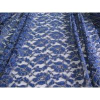Wholesale Royal Blue Cotton Nylon Gold Metallic Crochet Lace Fabric By The Yard from china suppliers