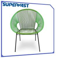Wholesale Metal Frame Resin Wicker Patio Furniture , Circular Rattan Weaving Outdoor Egg Chair from china suppliers