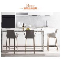 Buy cheap Fashionable Hotel Furniture High Stool Chair For Bar With Metal Foot Rest from wholesalers